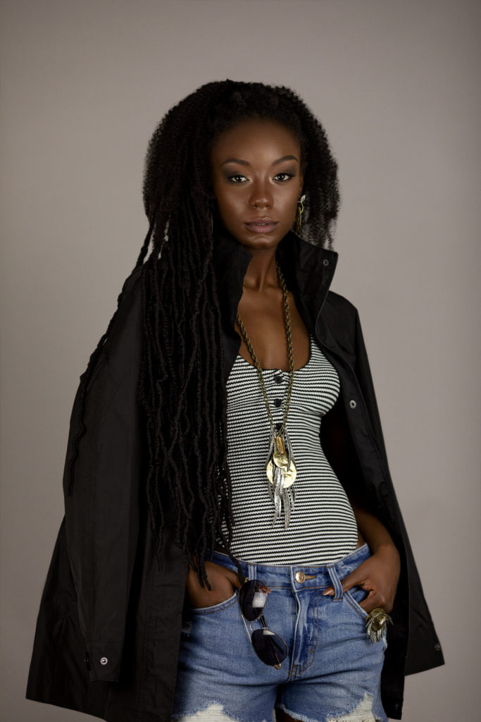 Casual Young Black Lady