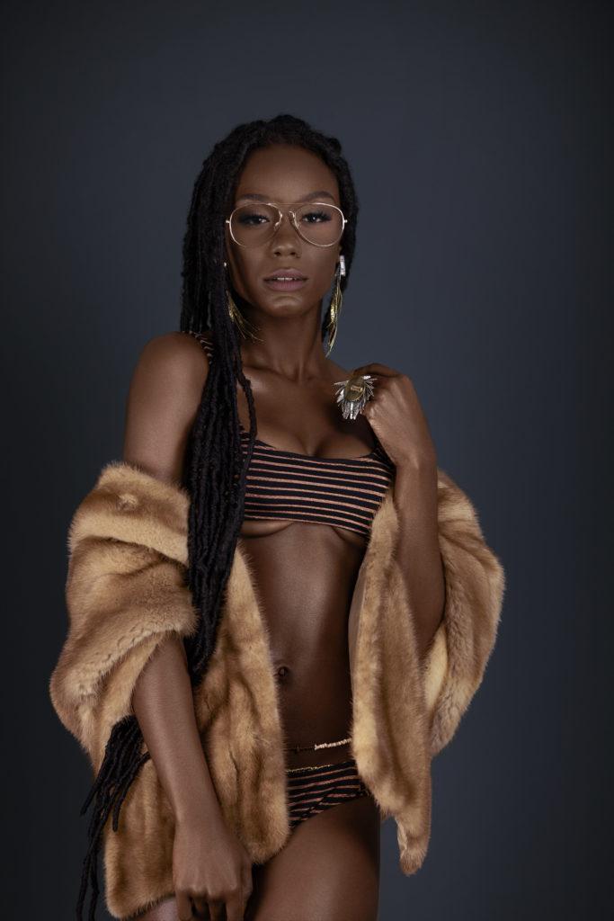 Black Lady in Fur