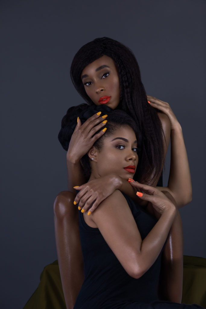 Sexy Melanin Queens with Red Lipstick & Nails