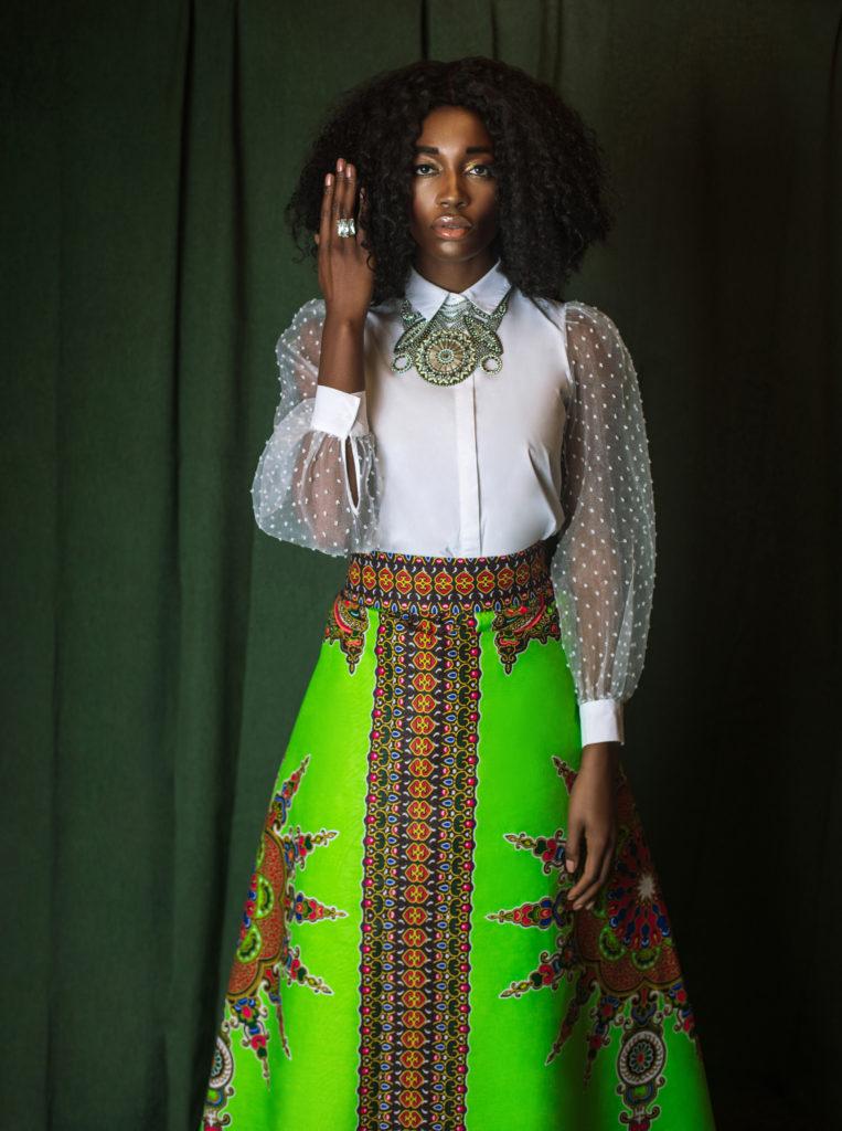 Black Lady in Skirt of Art