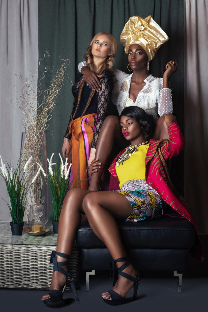 3 Elegant Women in Designer Clothing