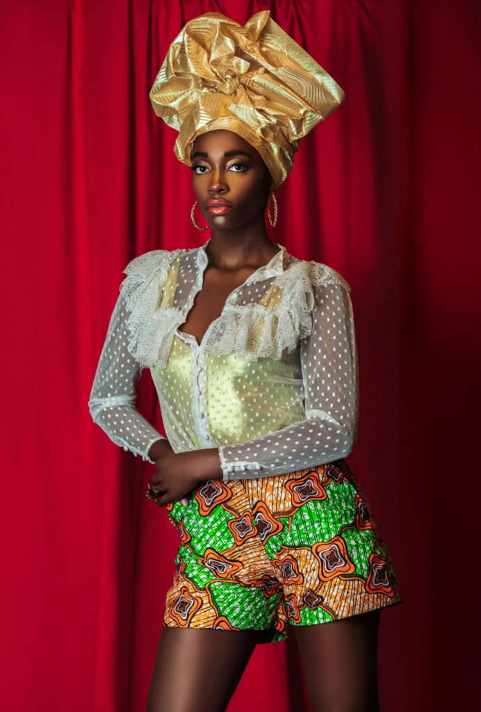Strong Black Queen with Gold Crown