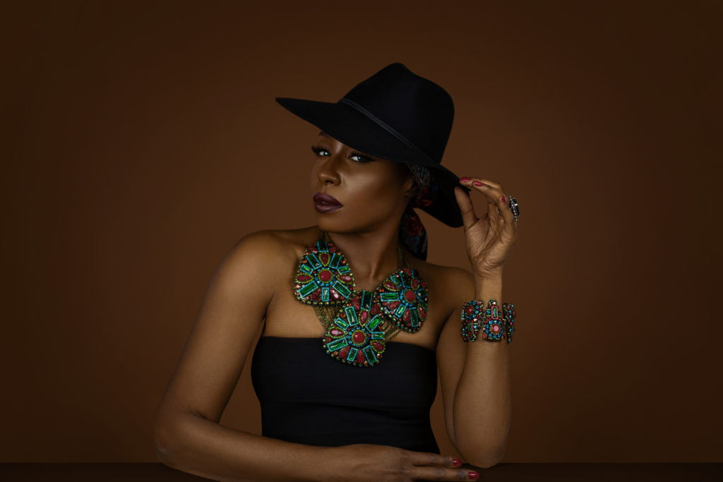 Black Gypsy Queen with Black Fedora Hat