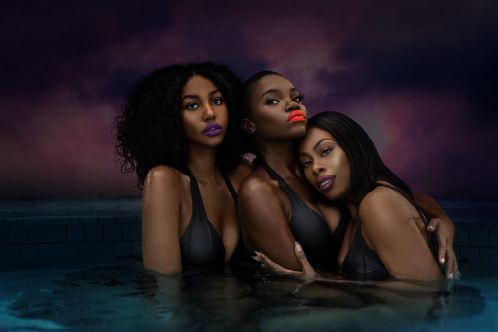 Sensual Shady Ladies in the Pool