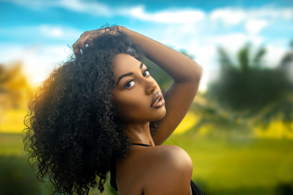 Curly Long Hair Tropical Seductive Shady Lady