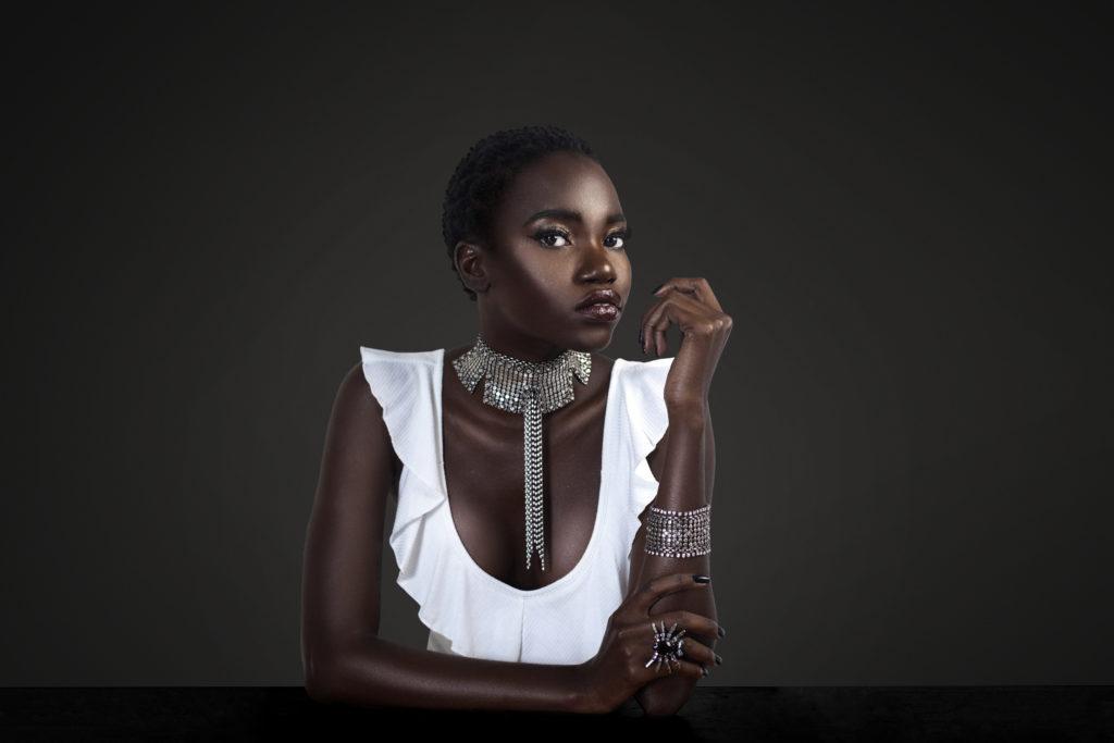 Clean & Serene Black Lady At The Bar