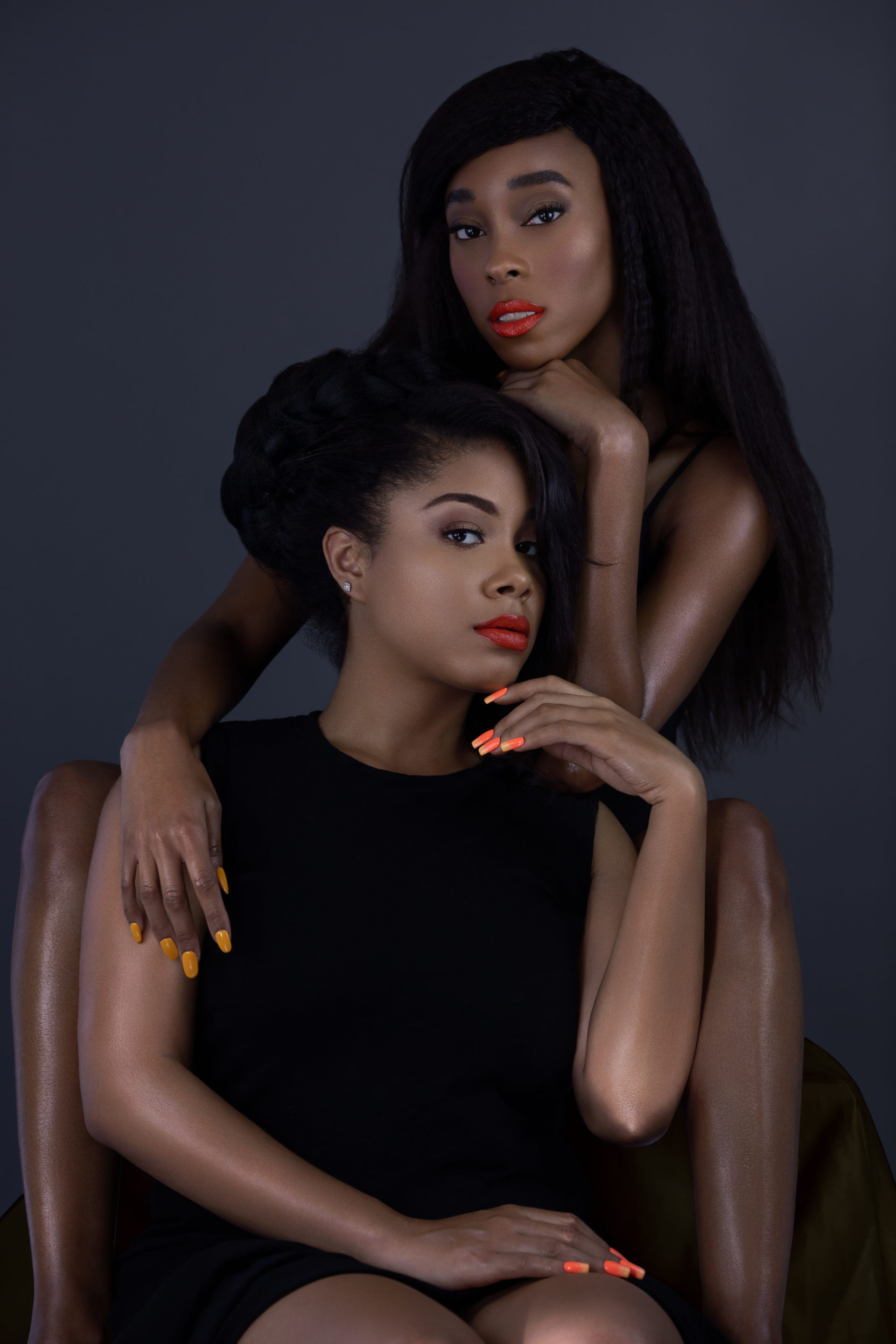 Melanin Queens with Red Lipstick & Nails