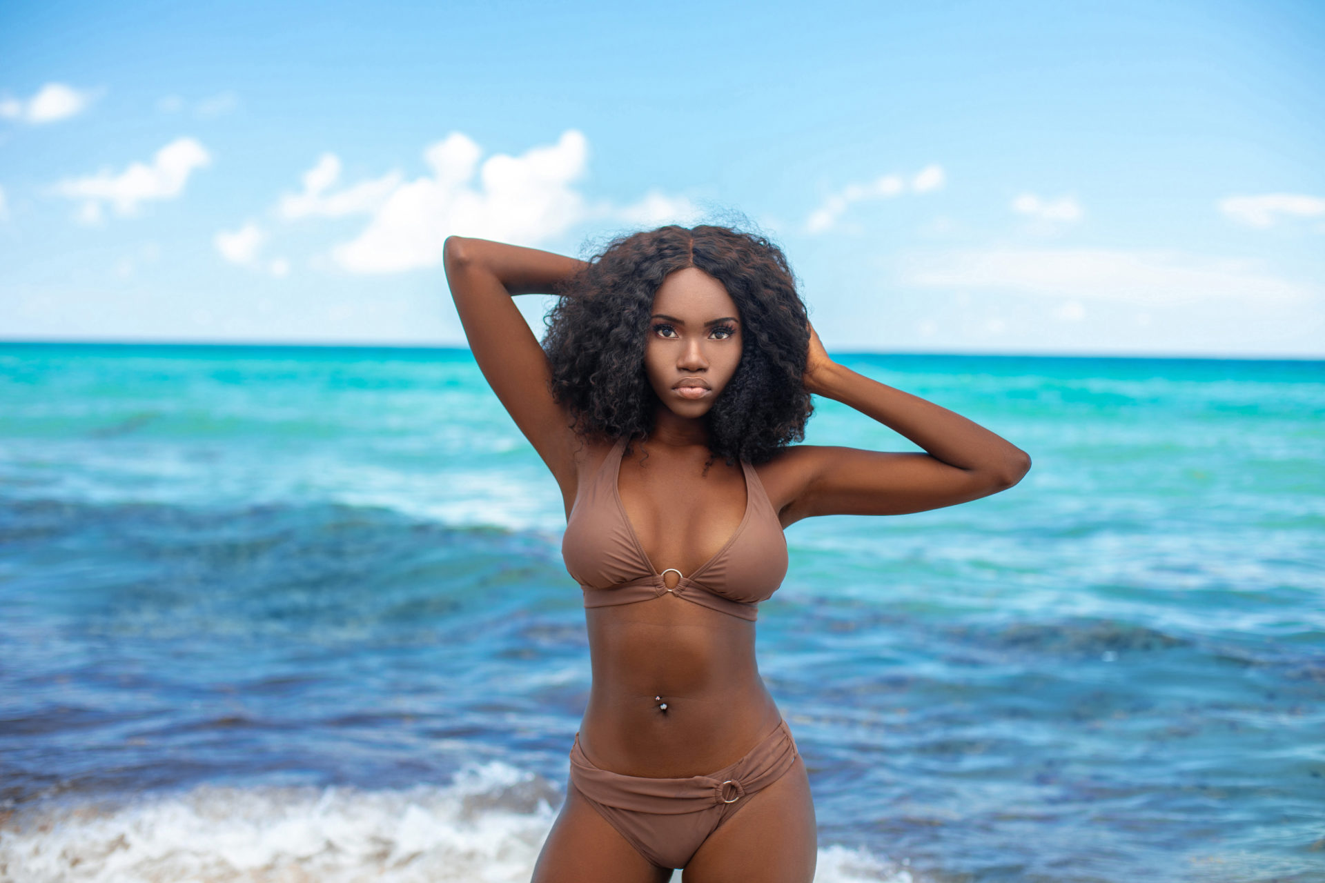 Chocolate, Sugar & Water: Tropical Beach Sensual Black Curly Queen