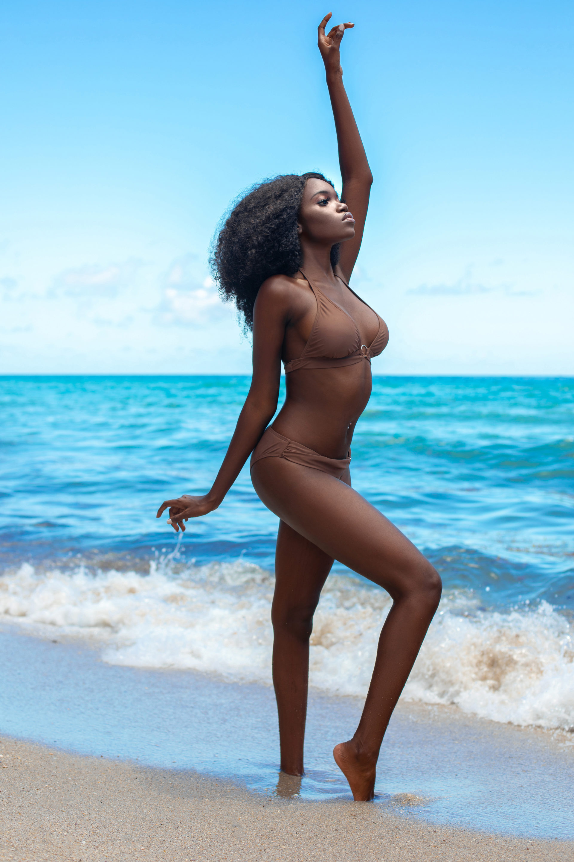 Chocolate, Sugar & Water: Tropical Beach Dancing Black Curly Queen