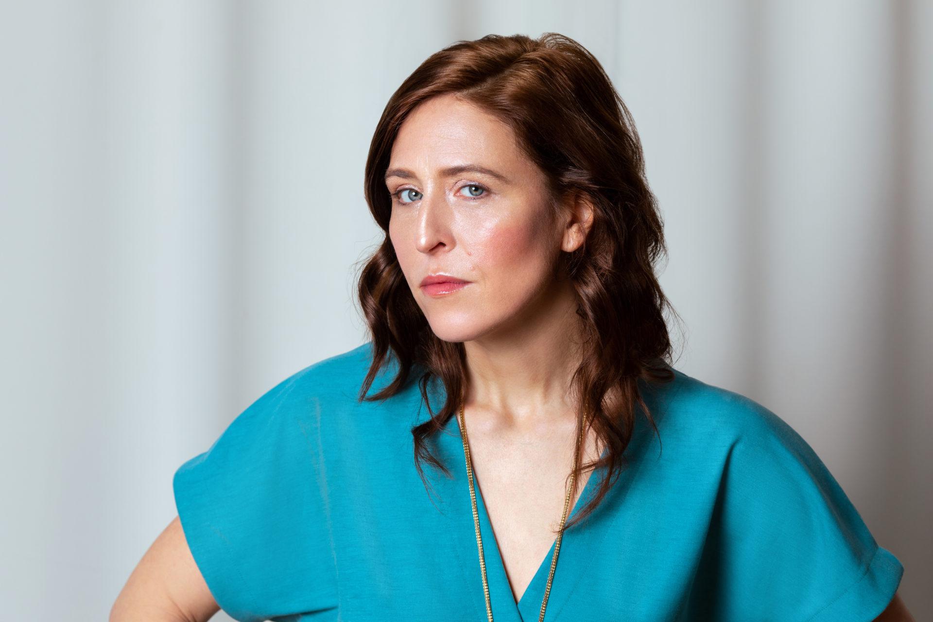 Britta Steffenhagen in Teal Jumper